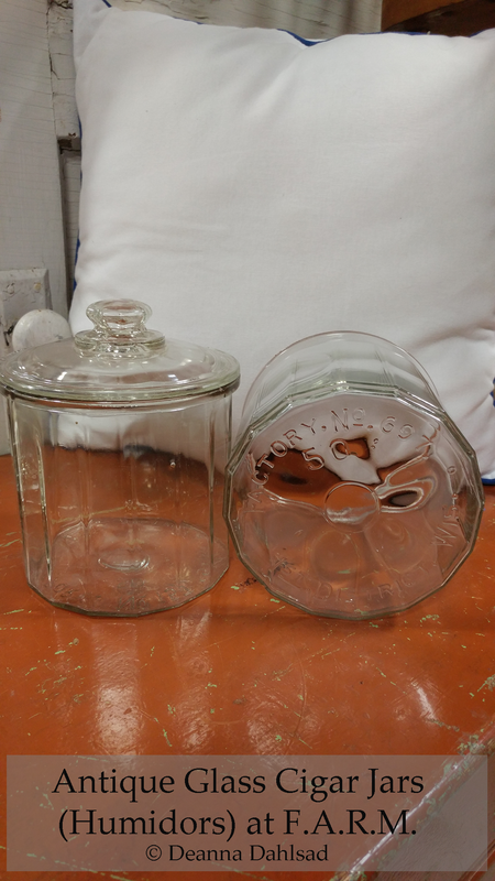 Antique Glass Cigar Jars